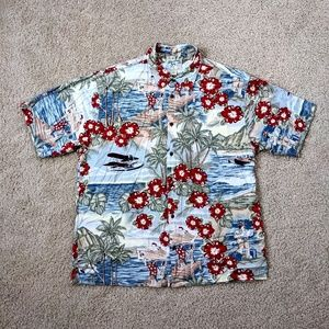 VINTAGE Big Dogs Hawaiian Shirt Multicolor Cruise